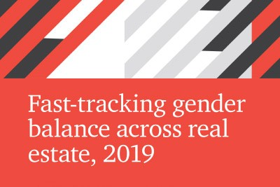 Real Estate Balance/PwC report - Fast tracking gender across real estate 2019 cover